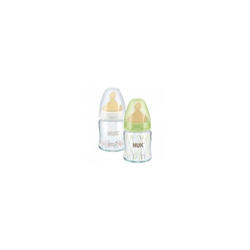 Biberón Cristal Nuk Látex 0-6 Meses 120ml