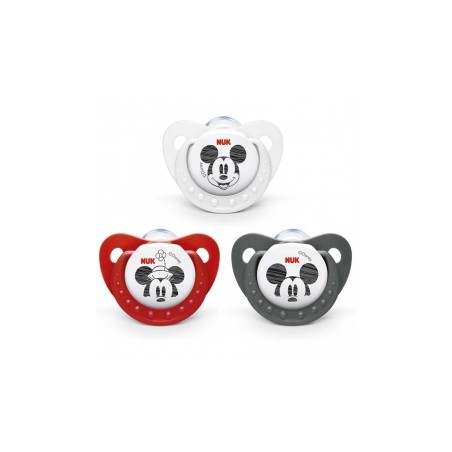 Chupete Nuk Mickey Mouse Silicona 6-18 Meses 1 ud