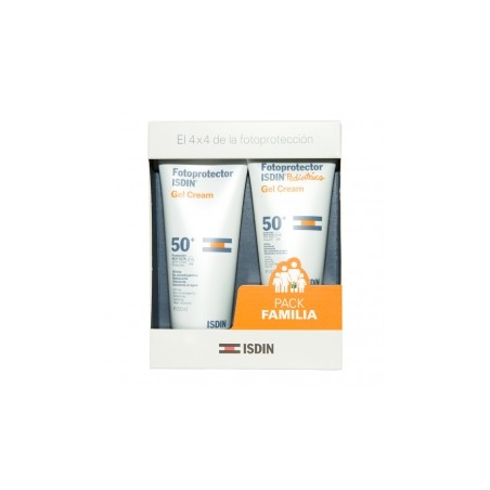 Fotoprotector solar ISDIN pack familiar gel crema 200 ml + Gel Crema 150 ml Pediátrico