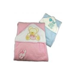 Toallas bebe para la ba era rosa o azul 1ud mifarmaciaonline - Toalla bano bebe ...