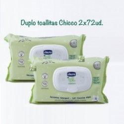 Duplo Toallitas Húmedas Chicco 72+72 unidades