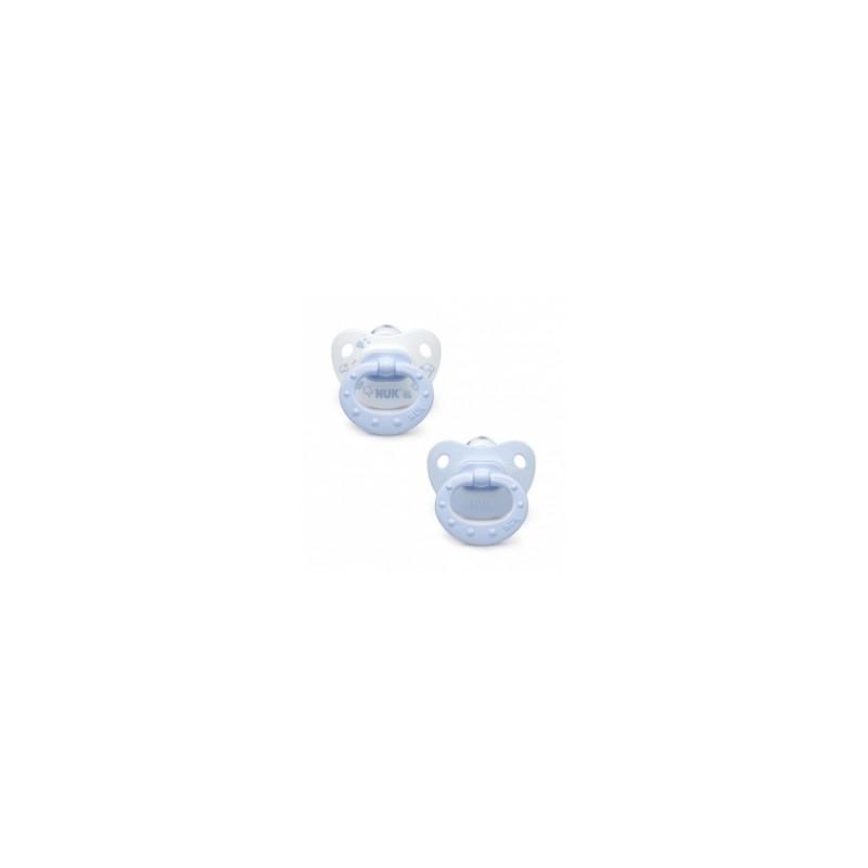 Chupetes Nuk Silicona Classic Azul 2 uds