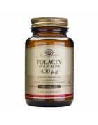 Folacín Acido Fólico Solgar 400mcg 100 Comprimidos