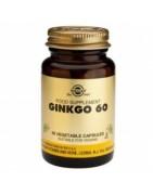 Ginkgo 60 Solgar 60 Cápsulas