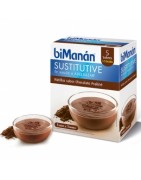 Bimanan Sustitutive Natillas Chocolate Praliné 5+1 Sobres