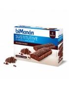 Bimanan Sustitutive Barritas Chocolate Fondant 8uds