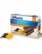 Bimanan Sustitutive Barritas Chocolate Naranja 8uds