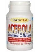 Oikos Acerola con Vitamina C 760mg 90 cápsulas