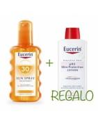Eucerin Sun Spray Transparente SPF50 200ml + REGALO Loción pH5 200ml