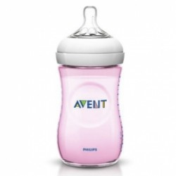 Biberón Avent Natural Rosa 260ml