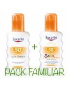 Eucerin Sun Pack Familiar Spray Adultos SPF50 + Spray Pediátrico SPF50