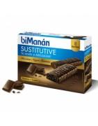 Bimanan Sustitutive Barritas Chocolate Negro Intenso 8uds