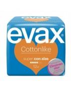 Evax Cottonlike Compresa Super Con Alas 12ud