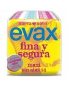 Evax Fina y Segura Compresa Maxi sin Alas 14ud