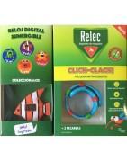 Relec Pulsera Antimosquitos Click Clack + REGALO Reloj Digital Sumergible