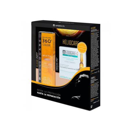Heliocare 360 Gel Oil Free SPF50 Beige 50ml + REGALO Ampollas Endocare