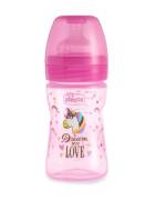 Chicco Biberón Fantastic Love Rosa 150ml