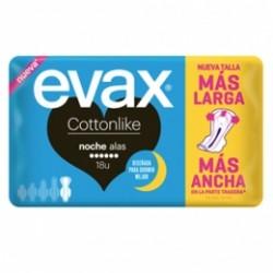 Evax Cottonlike Compresa Con Alas Noche 18ud