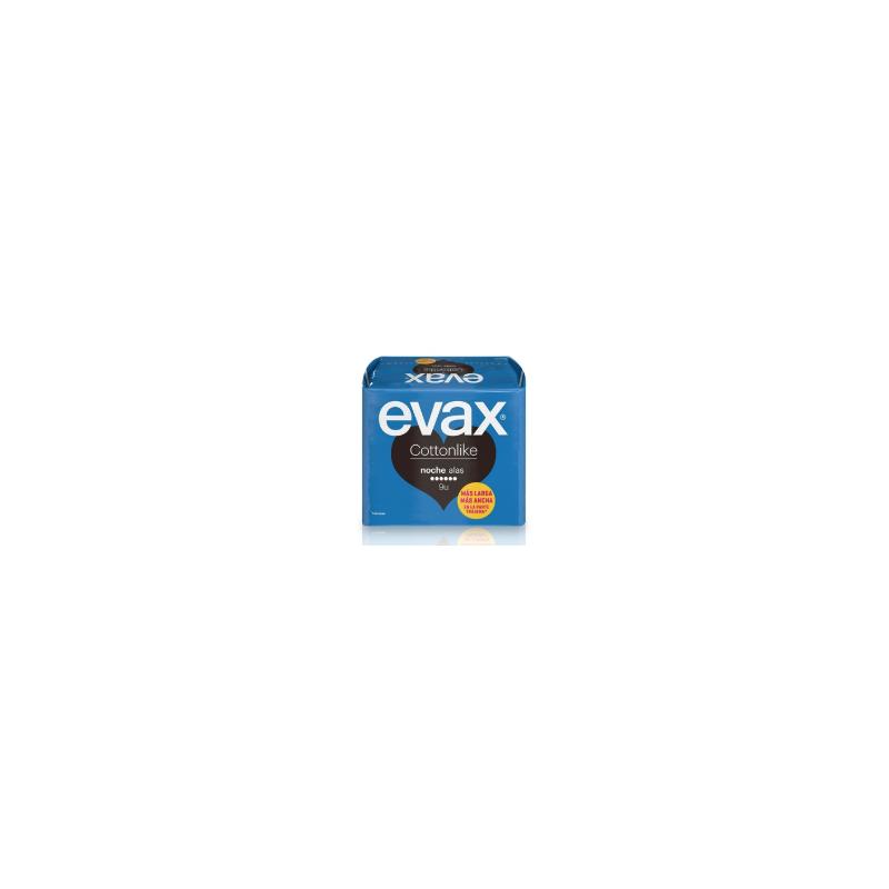 Evax Cottonlike Compresa Con Alas Noche 9ud