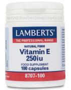 Lamberts Vitamina E Natural 250ui 100cap