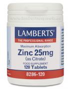 Lamberts Zinc 25mg 120 Comp
