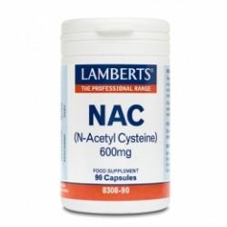 Lamberts NAC (N Acetil Cisteina) 600mg. 90cap.