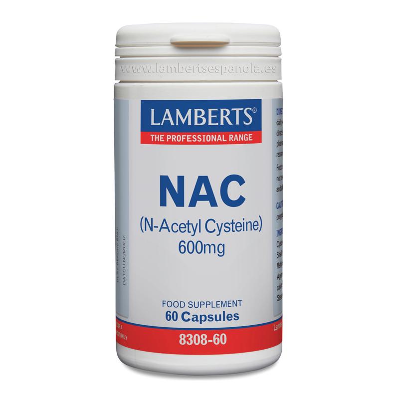 Lamberts NAC (N Acetil Cisteina) 600mg 60cap
