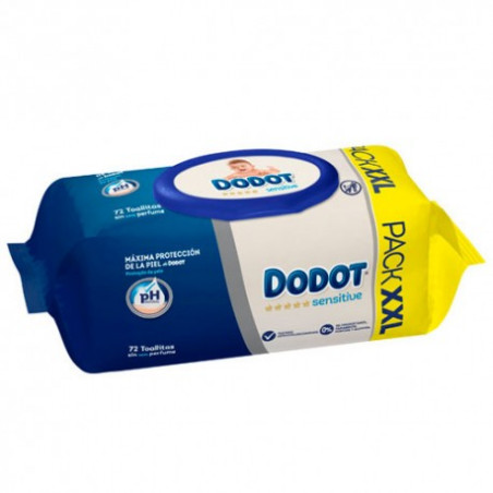 Dodot Toallitas Sensitive XXL 72uds