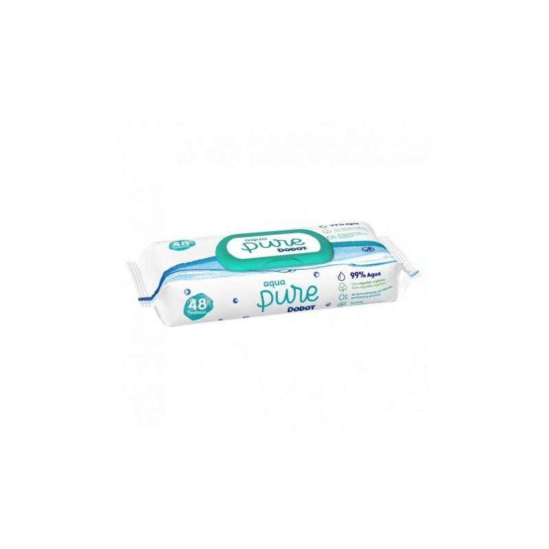 Dodot Toallitas Aqua Pure Tapa 48 Toallitas