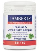 Lamberts L-Teanina 200mg y Bálsamo de Limón 60comp