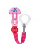 Mam Clip It & Cover Sujetachupetes con Cubierta de Protección Rosa