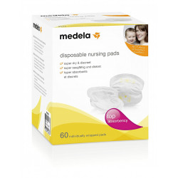Medela Discos SuperAbsorbentes y Discretos (Diseño Anterior) 60uds