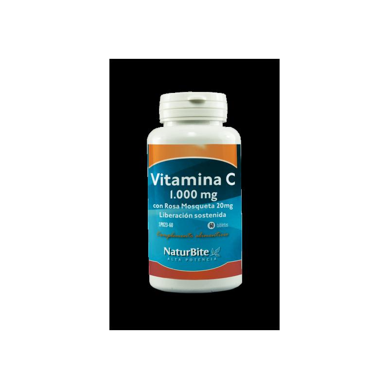 Naturbite VitaminaC 1000mg Rosa Mosqueta 20mg 60 Comprimidos