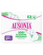 Ausonia Natural Súper 100% Algódon Orgánico Alas 10uds