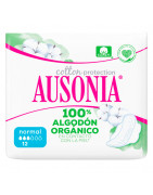 Ausonia Natural Normal 100% Algódon Orgánico Alas 12uds