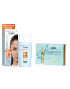 Pack Isdin Fusion Water SPF50 50ml + IsdinCeutics Hyaluronic Booster 5 Ampollas