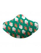 Mascarilla Higiénica Reutilizable Navidad Verde Adulto Talla L